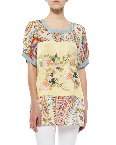 Mistic Paneled & Printed Tunic, Women
