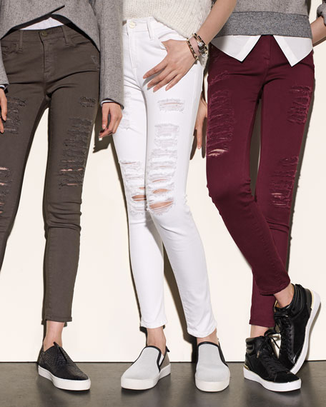 Le Color Rip Skinny Distressed Jeans, Forrest