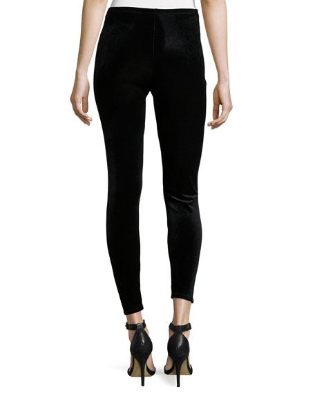 Eileen Fisher Stretch Velvet Ankle Leggings, Plus Size