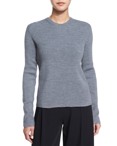 Gregg Crossover-Back Sweater, Heather Gray