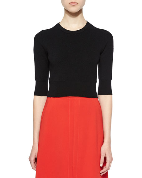 A.L.C. Hansen Merino 3/4-Sleeve Sweater, Black