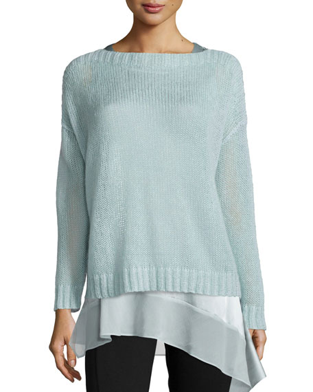 Eileen Fisher Airy Mohair Box Top