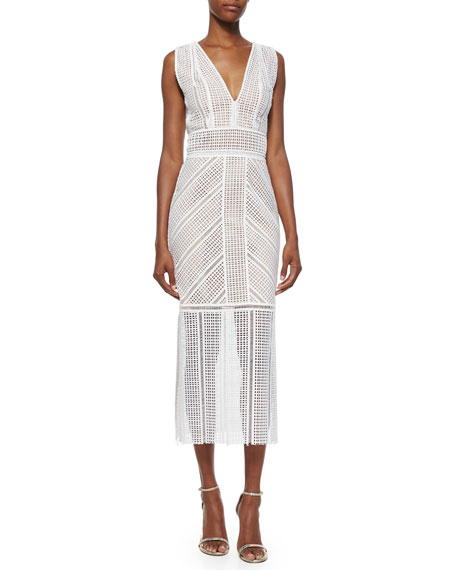Rachel Gilbert Daysi Eyelet Maxi Dress