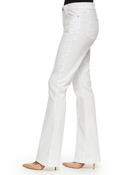 NYDJ Farrah Flare-Leg Jeans, Optic White