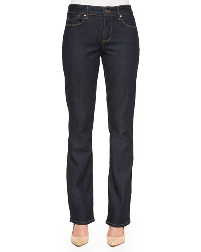 Billie Mini Boot-Cut Jeans, Enzyme
