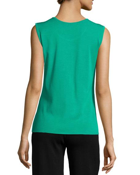 Scoop-Neck Knit Tank, Jade, Plus Size