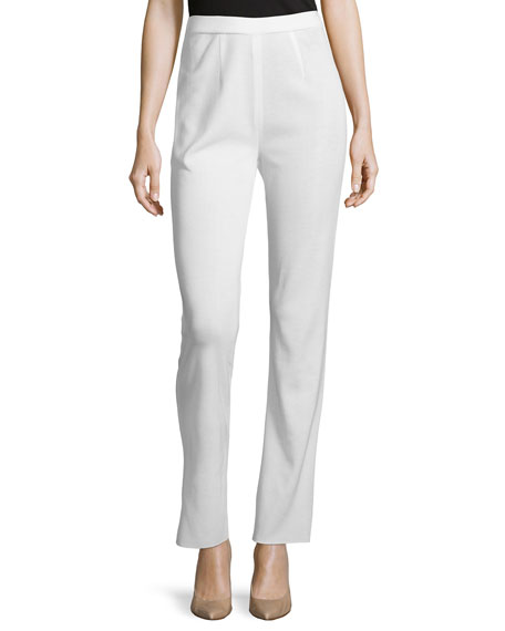 Misook Boot-Cut Knit Pants, Cream, Women's