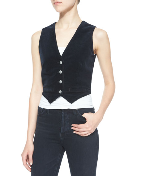 Laura Velvet Vest, Dark Night