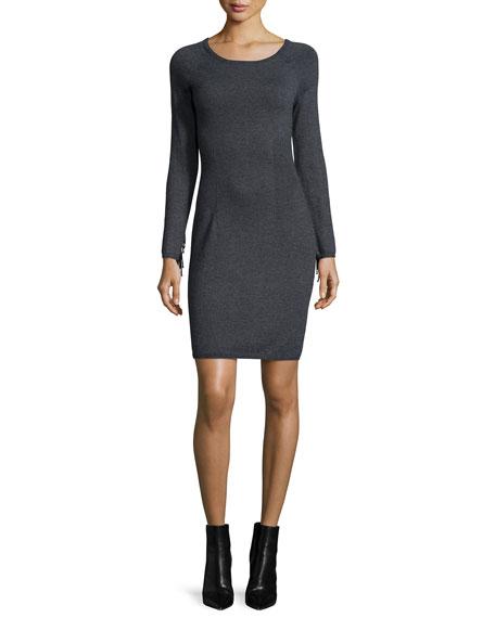 Yoana Baraschi Fringe-Sleeve Body-Conscious Dress