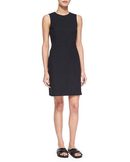 Theory Ranied Jetty Sleeveless Dress, Black