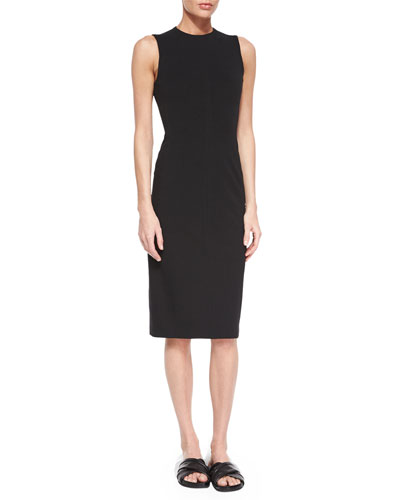 Ekundayo Sleeveless Ponte Dress, Black