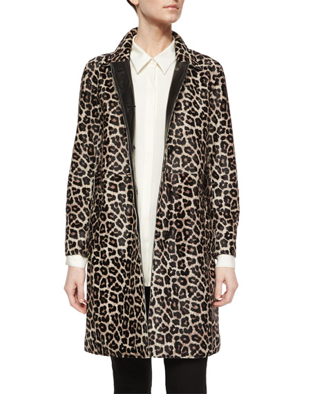 Theory Dafina Leopard-Print Coat