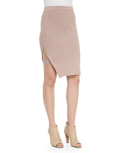 Sahara Rose Slit Pencil Skirt