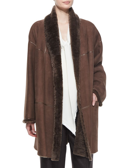 Lafayette 148 New York Smith Fur Mid-Length Topper