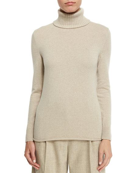Lafayette 148 New York Turtleneck Sweater with Drop-Needle Hem