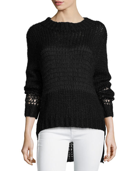 Banjo And Matilda Cobweb Crewneck Sweater, Black