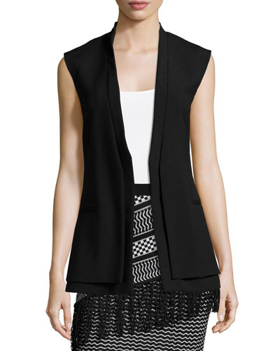 Eddie Long Sleeveless Jacket, Black