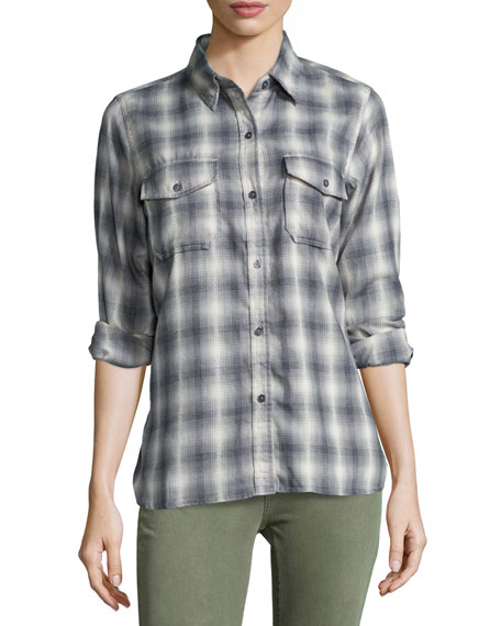 Current/Elliott The Perfect Shirt Without Epaulets, Dakota Plaid