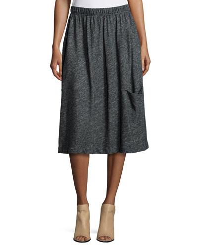 Bias Twist Oval Skirt, Charcoal