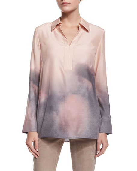 Lafayette 148 New York Aurelia Long-Sleeve Blouse