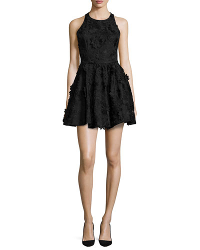Tevin Racerback Party Dress, Black