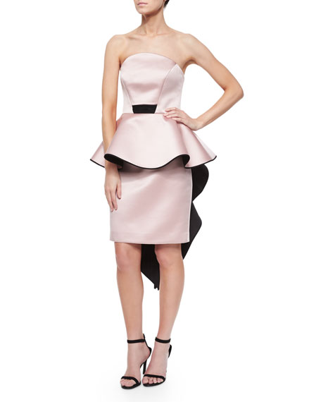 Adeline Strapless Peplum Cocktail Dress