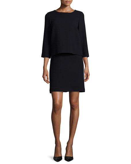 Lafayette 148 New York Belinda Wool Popover Dress