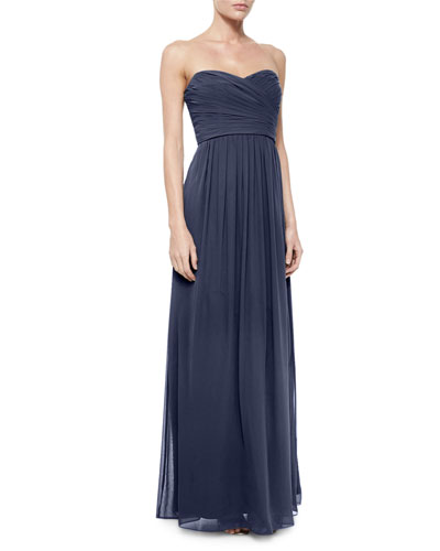 Strapless Ruched-Bodice Gown,