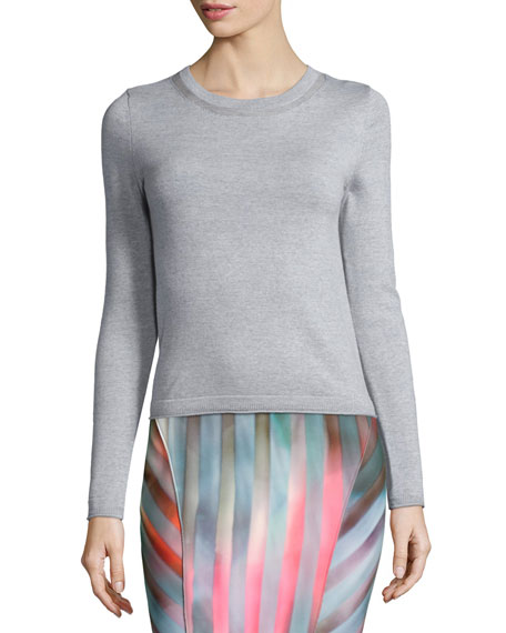 Tahari Woman Blu Long-Sleeve Merino Sweater