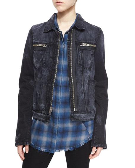 RtAPhoenix Denim Zip-Front Jacket, Odyssey