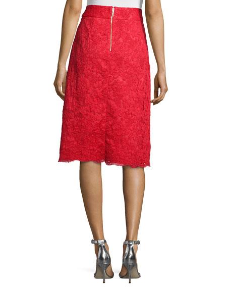 midi lace a-line skirt