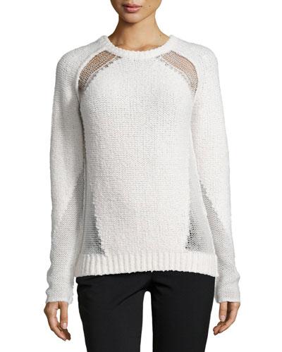 Brylie Open-Weave Sweater