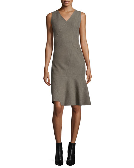 Elie Tahari Jaydn Sleeveless V-Neck Dress