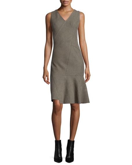 Elie Tahari Jaydn Sleeveless V-Neck Dress