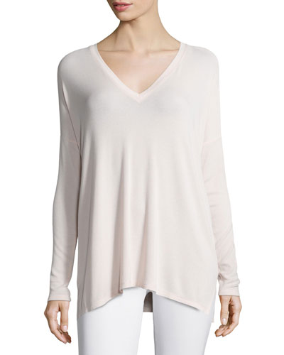 Luxe V-Neck Top, New Buff