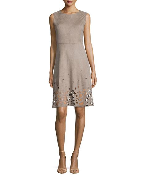 Ophelia Fit & Flare Cutout-Hem Dress