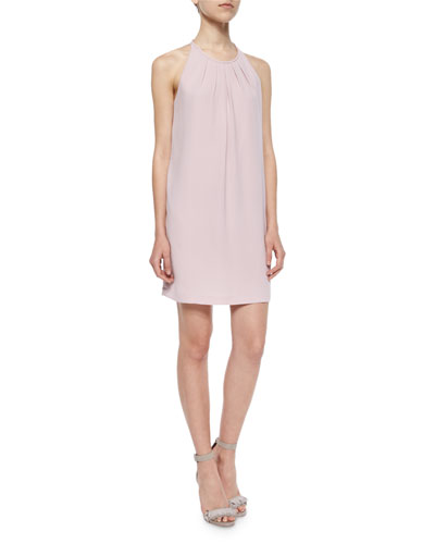 Lynzie Pleated Shift Dress, Lavender Mist