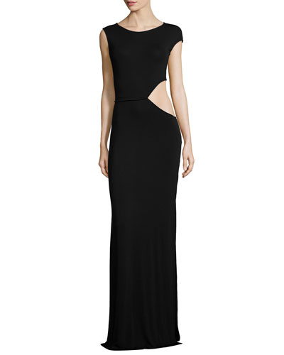 Sia Side-Cutout Maxi Dress
