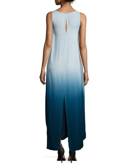Ali Sleeveless Ombre Maxi Dress, Cobalt