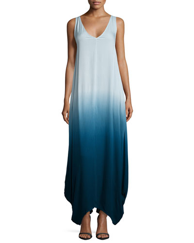 Ali Sleeveless Ombre Maxi Dress, Cobalt