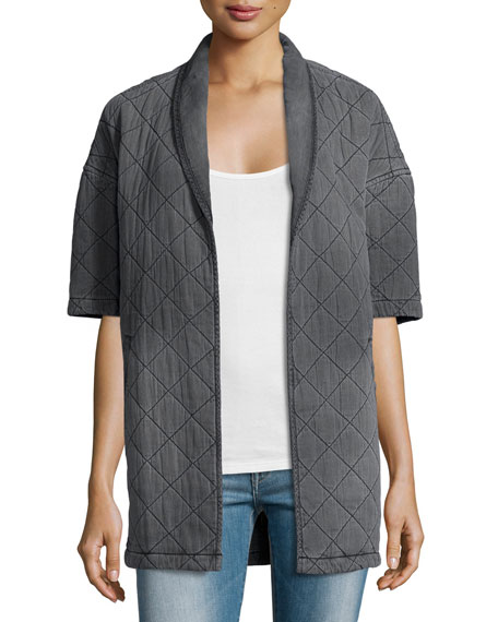 Current/Elliott The Quilted Car Coat, Analog