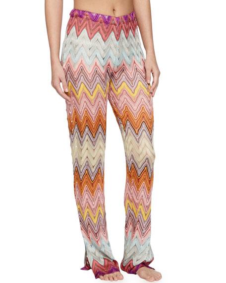 Missoni Mare Zigzag Knit Pull-On Coverup Pants, Multi