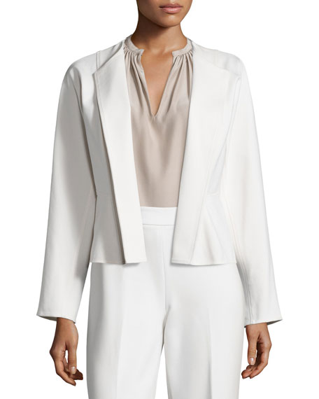 Josie Natori Double-Knit Short Jacket