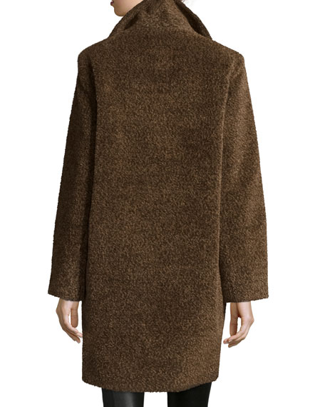 Double-Breasted Cocoon Coat, Cocoa