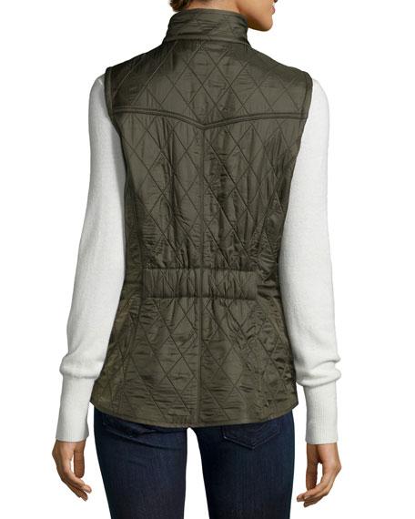 Cavalry Polar Diamond-Quilt Gilet Vest with Fleece Lining