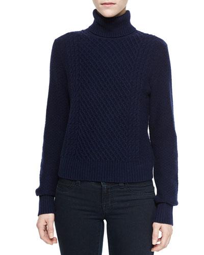 Atticus Turtleneck Pullover Sweater, Peacoat