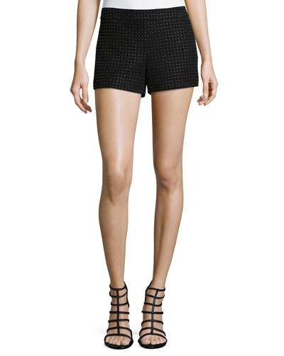 Studded Suede Short Shorts