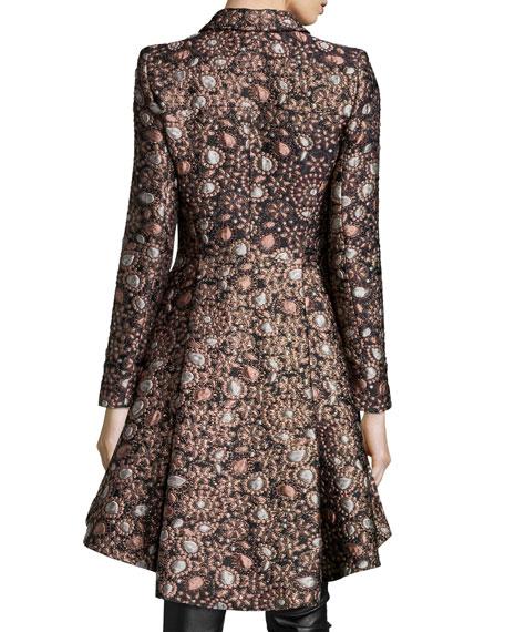 Veronika Shimmery Jacquard Princess Coat