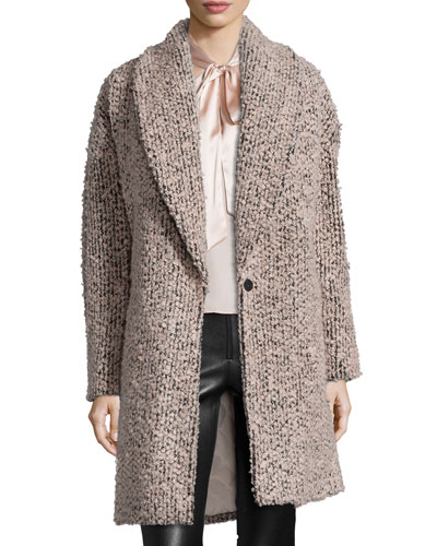 Ralter Oversized Singe-Button Coat, Dusty Pink