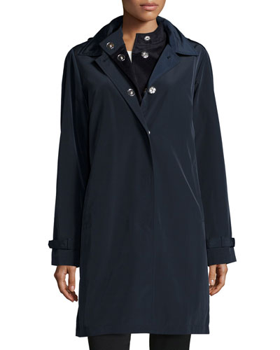 A-line Coat with Removable Hood